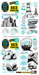 How to draw ROCK FORMATIONS BOULDERS ENVIRONMENTS by EtheringtonBrothers