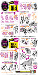 How to draw HORSES + HORSE HEADS tutorial by EtheringtonBrothers