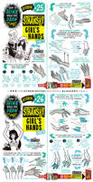 How to draw FEMALE AND GIRL'S HANDS tutorial by EtheringtonBrothers