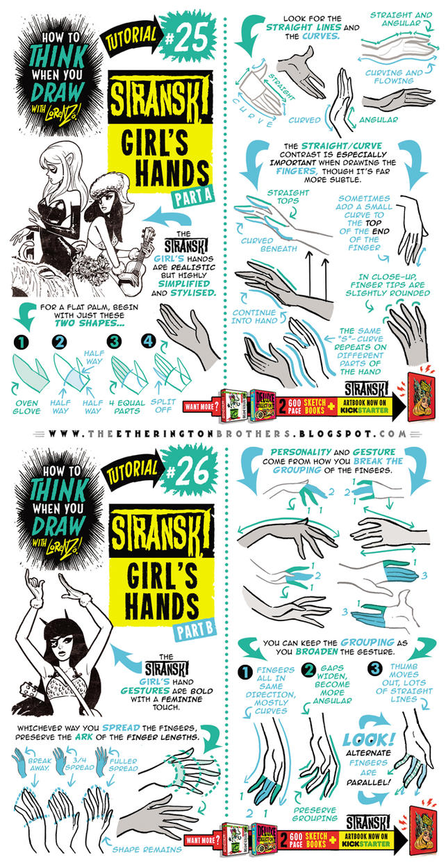 How to draw FEMALE AND GIRL'S HANDS tutorial by STUDIOBLINKTWICE