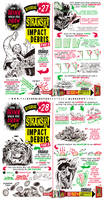 How to Draw IMPACT DEBRIS EXPLODE DAMAGE tutorial by EtheringtonBrothers