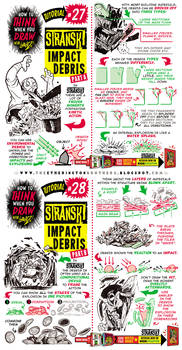 How to Draw IMPACT DEBRIS EXPLODE DAMAGE tutorial