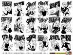 Stranski Girl Kickstarter sketches SET 1