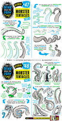 How to draw MONSTER TENTACLES tutorial by EtheringtonBrothers