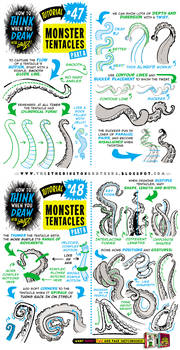 How to draw MONSTER TENTACLES tutorial