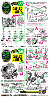 How to draw CABLES, WIRES and HOSES tutorial