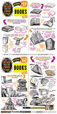 How to draw BOOKS and SPELL BOOKS tutorial