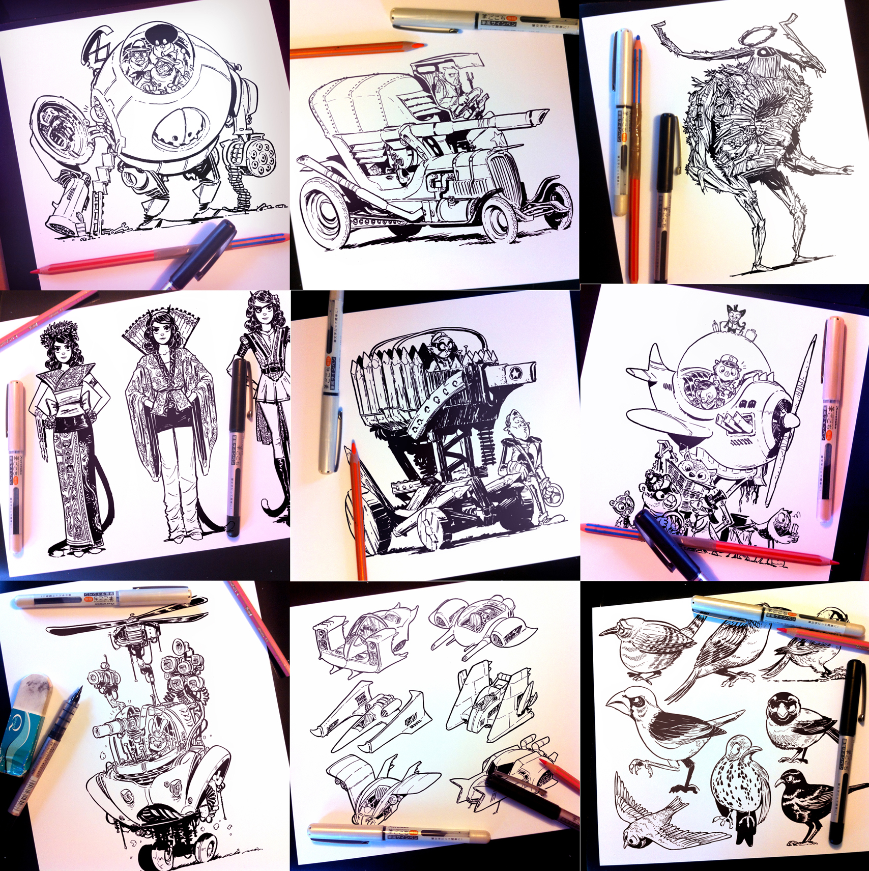 Instagram, Twitter and Tumblr sketches part ONE by STUDIOBLINKTWICE