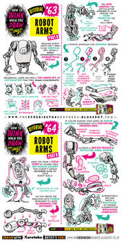 How to draw ROBOT MECH ARMS tutorial