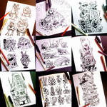 Instagram, Twitter and Tumblr sketches part TWO