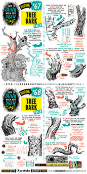 How to draw TREE BARK tutorial by EtheringtonBrothers