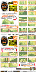 How to draw FOREGROUND MIDGROUND BACKGROUND by EtheringtonBrothers