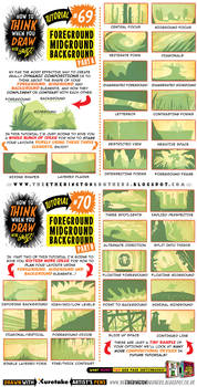 How to draw FOREGROUND MIDGROUND BACKGROUND