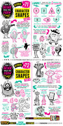 How to draw CHARACTER SHAPES tutorial by EtheringtonBrothers