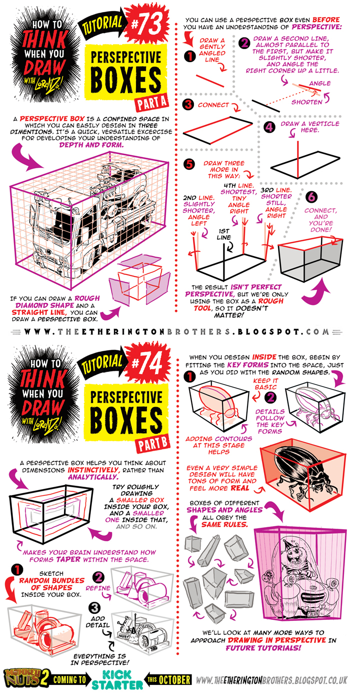 How to draw with PERSPECTIVE BOXES tutorial by STUDIOBLINKTWICE