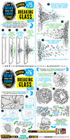 How to draw BREAKING SHATTERING GLASS tutorial