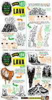 How to draw LAVA and VOLCANOES tutorial