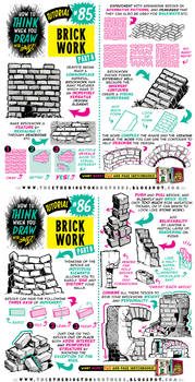 How to draw BRICKS, BRICKWORK and WALLS tutorial