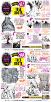 How to draw TREE ROOTS tutorial