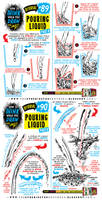How to draw POURING LIQUID and WATER tutorial
