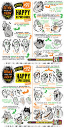How to draw HAPPY EXPRESSIONS tutorial by EtheringtonBrothers