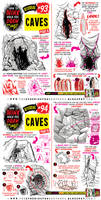 How to draw CAVES and CAVERNS tutorial