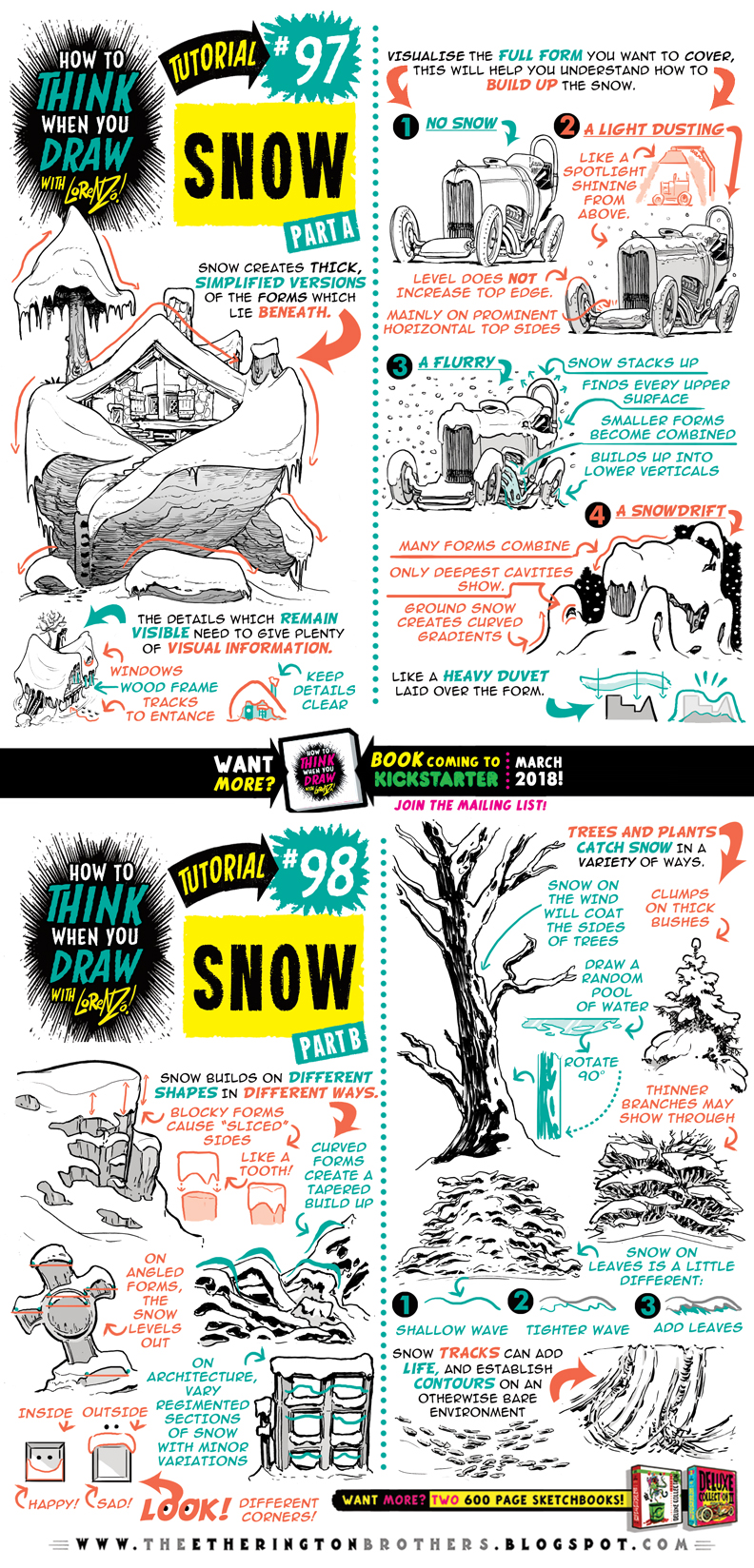 How to draw SNOW tutorial by STUDIOBLINKTWICE