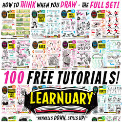 Links to 100 FREE TUTORIALS!