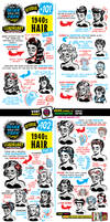 How to draw 1940s HAIR tutorial