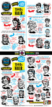 How to draw 1940s HAIR tutorial by EtheringtonBrothers