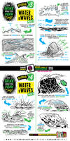 How to draw WATER and WAVES tutorial