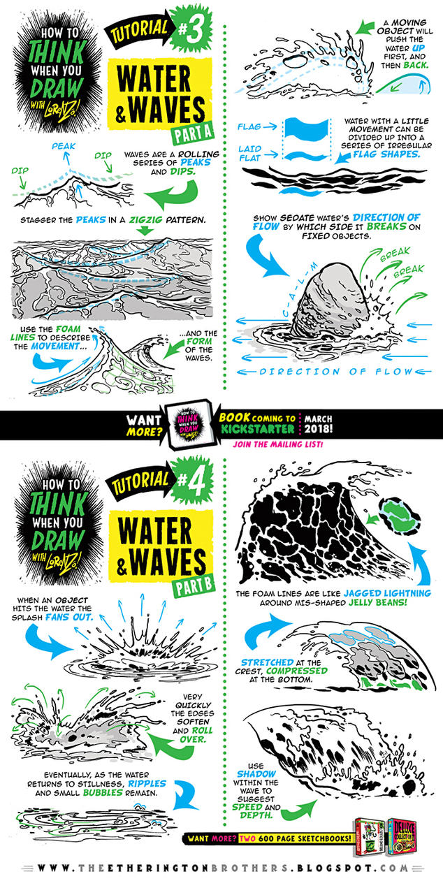 How to draw WATER and WAVES tutorial by STUDIOBLINKTWICE