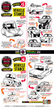 How to draw VEHICLE STANCE tutorial