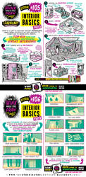 How to draw INTERIORS tutorial