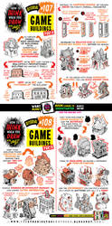 How to draw GAME BUILDINGS tutorial by EtheringtonBrothers