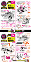 How to THINK when you draw VINTAGE PLANES tutorial