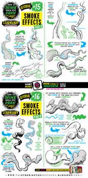 How to draw SMOKE EFFECTS tutorial