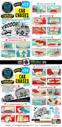 How to draw CAR CHASES tutorial by EtheringtonBrothers