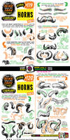 How to draw HORNS tutorial
