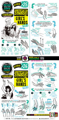 How to draw STRANSKI GIRL'S HANDS tutorial pt ONE!
