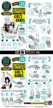 How to draw STRANSKI GIRL'S HANDS tutorial pt ONE!