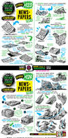 How to draw NEWSPAPERS tutorial