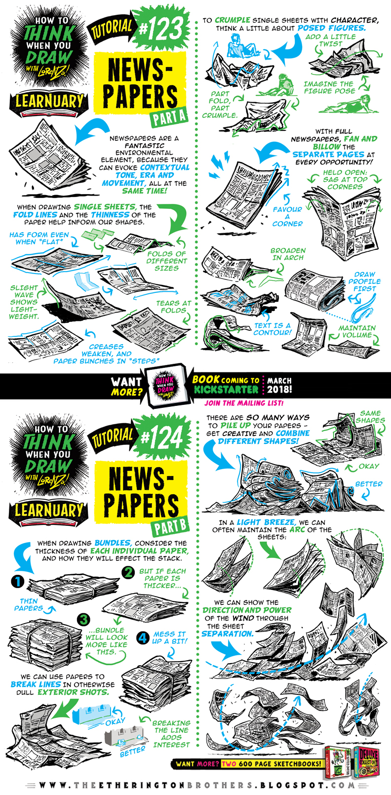 How To Draw Newspapers Tutorial By Etheringtonbrothers On Deviantart