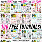 Links to ONE HUNDRED FREE TUTORIALS!