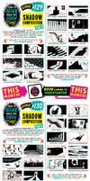 How to draw SHADOW COMPOSITIONS tutorial