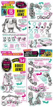 How to draw ROBOT ARMS - KICKSTARTER has 15 DAYS! by EtheringtonBrothers