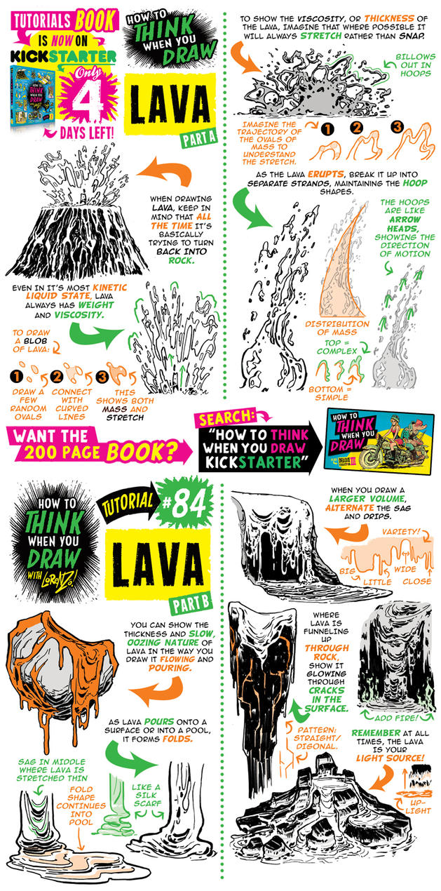 How to draw LAVA - KICKSTARTER is ABOUT TO END! by STUDIOBLINKTWICE