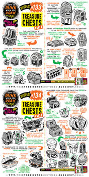 How to draw TREASURE CHESTS tutorial