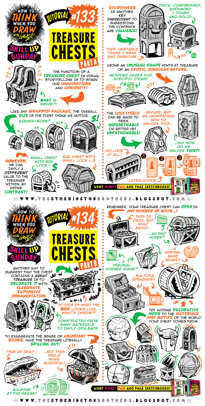 How to draw TREASURE CHESTS tutorial by STUDIOBLINKTWICE