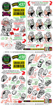 How to draw SHOULDER ARMOUR tutorial by EtheringtonBrothers